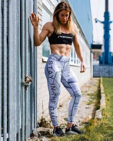 Women's premium training tights, birch