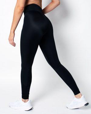 Women's compression tights, black