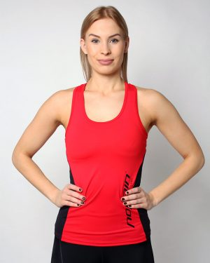 Women's premium tank top, red