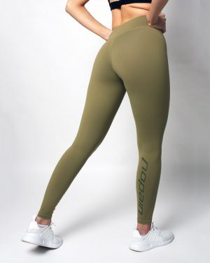 Women's minimalist training tights, pine green