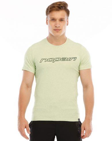 Men's casual tee, light green