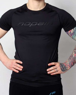 Miesten technical tee, full black
