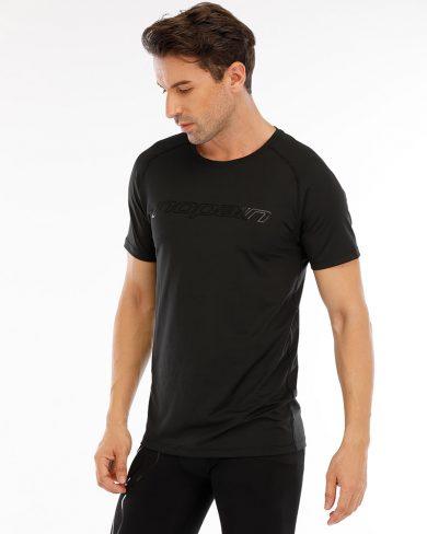 Men's technical tee, full black