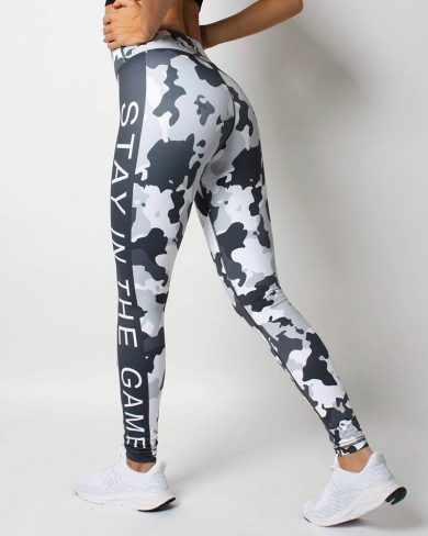 Women's premium training tights, white camo