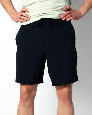 Men's training shorts, full black