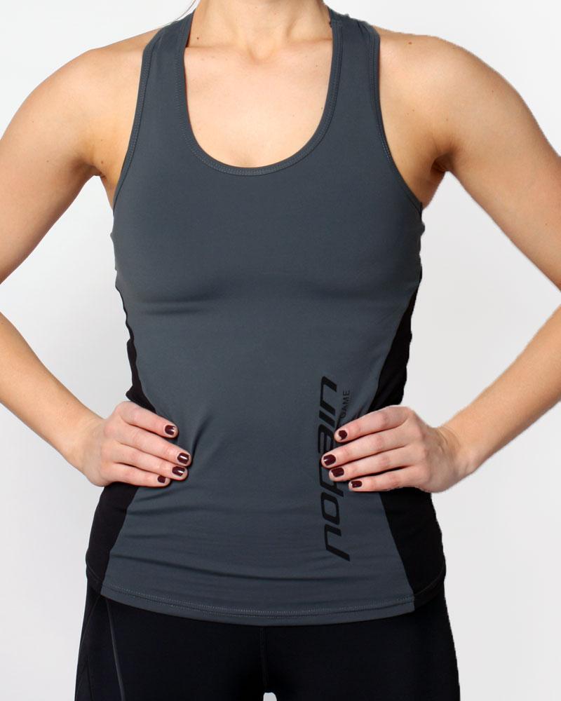 women's technical tank top, grey