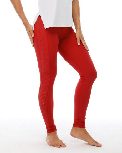 Women's superior training tights, berry red