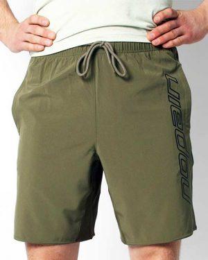 Men's training shorts, army green