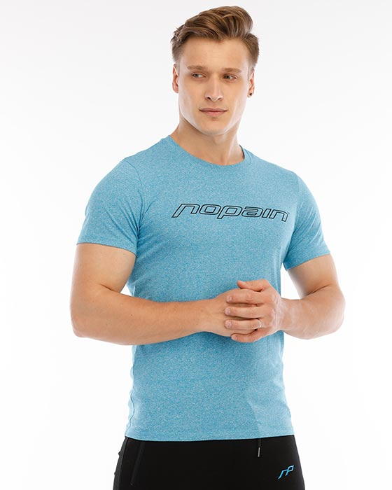 Men's casual tee, blueberry