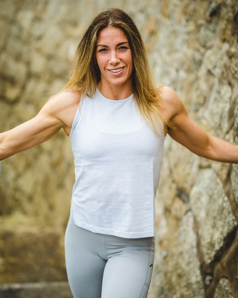 Women's muscle tank top, granite