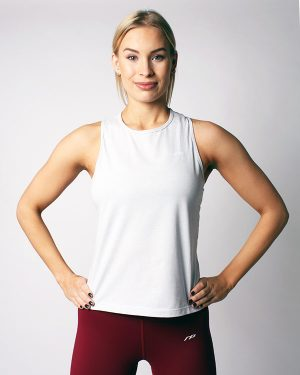 Muscle tank top, granite