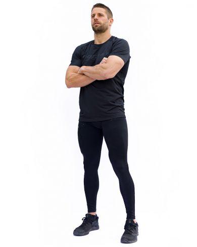 Miesten elite kompressiotrikoot, full black