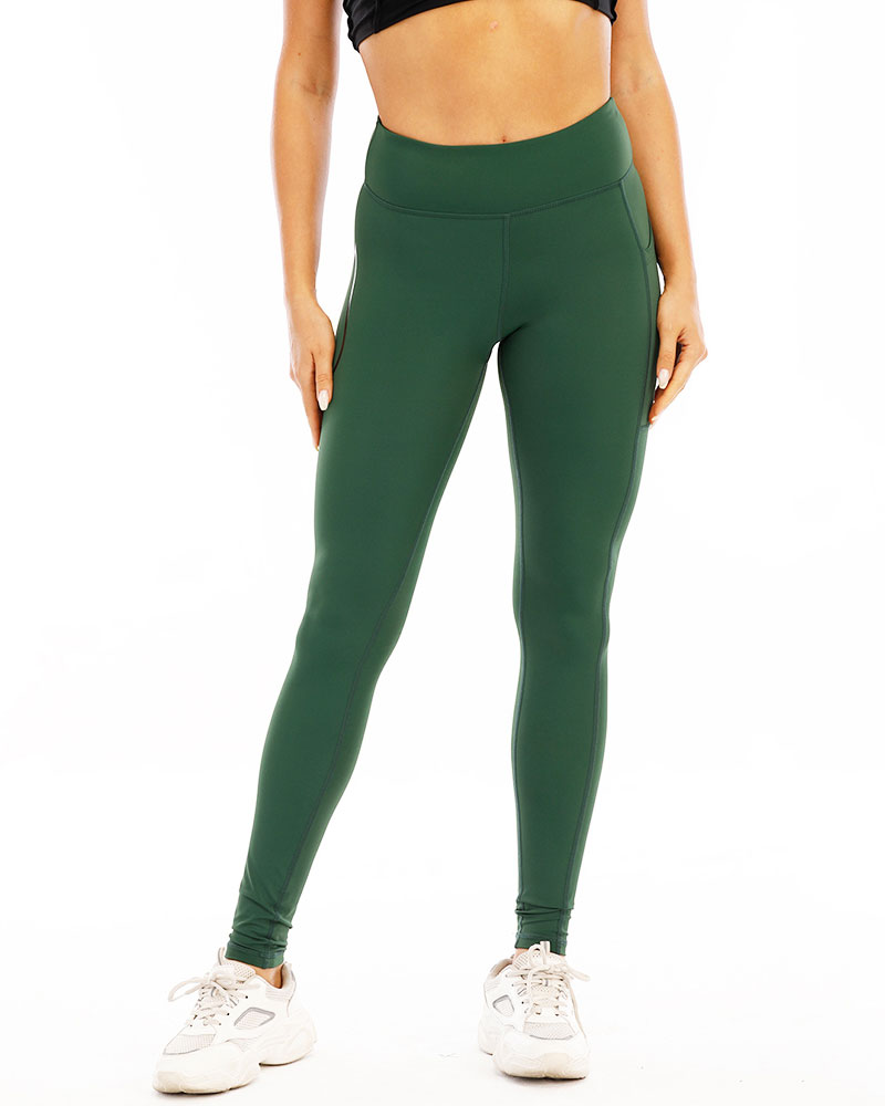 Women's elite compression tights, army green